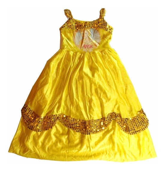 Vestido Infantil Amarelo Princesa Festa Fantasia Halloween