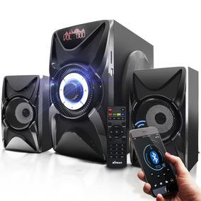 Caixa Sistema De Som 2.1 Subwoofer Tv Bluetooth Usb P2 Rca