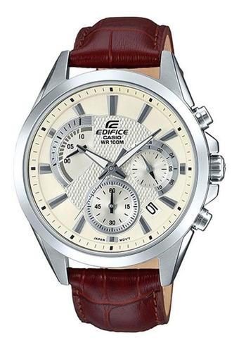 Relógio Masculino Casio Edifice Efv-580l-7avudf Prata/marrom