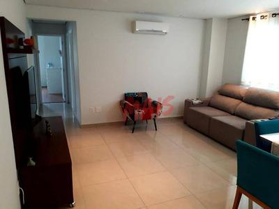 Apartamento Com 3 Dormitórios À Venda, 106 M² Por R$ 450.000 - Ponta Da Praia - Santos/sp - Ap5076