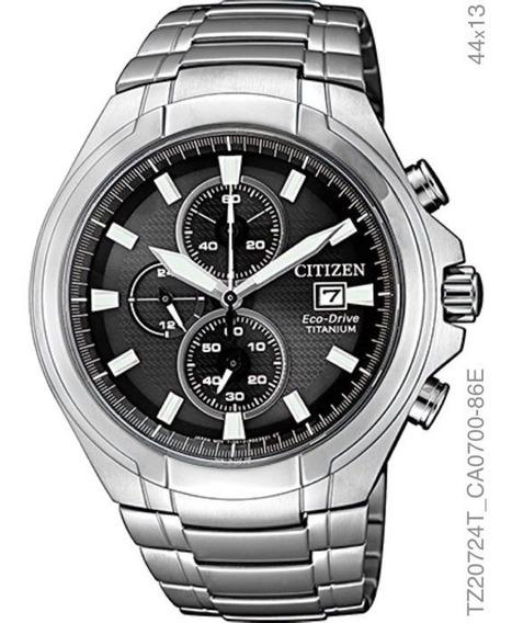 Relógio Cronografo Eco-drive Masculino Citizen Tz20724t