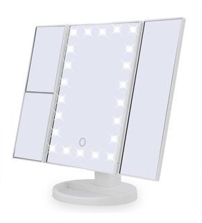 Espelho Camarim 22 Leds Para Maquiagem De Mesa Portátil Luz
