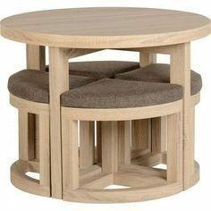 Mesa Juego Comedor Moderno Mueble Modular Sala Centro