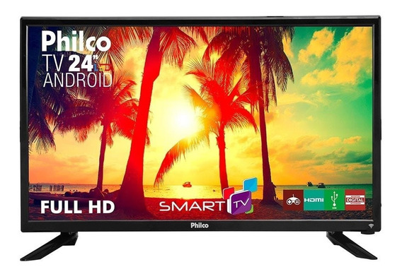 Tv Led 24 Philco Ptv24n91sa Full Hd Com Android, 1 Usb