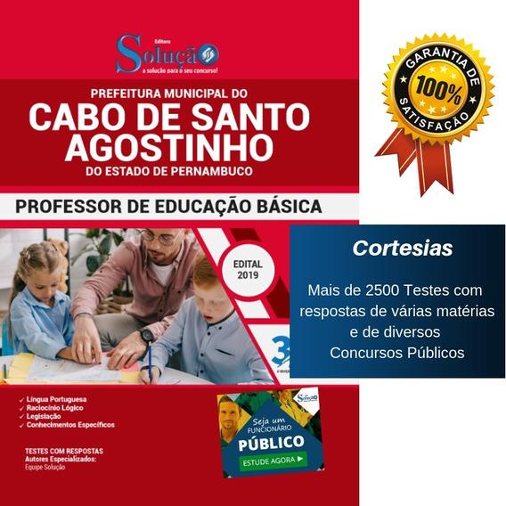 Apostila Cabo De Santo Agostinho Pe - Professor Básico - Peb