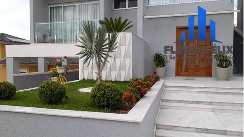 Imagem 1 de 15 de Casa Á Venda Condomínio Real Park Arujá 4 Suítes 10 Vagas - 754