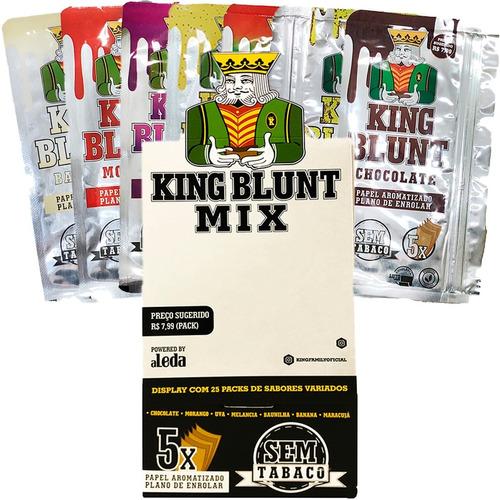Caixa Seda King Blunt Mix Sabores Atacado 25 Pacotes C/125