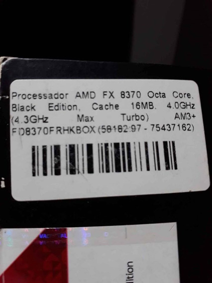 Amd Fx 8370(package: Am3+) 8 Núcleos, Clock Max Até 4.3ghz