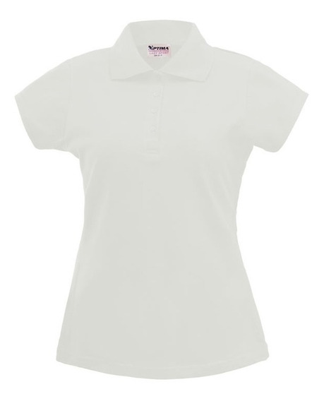 Playera Polo Dama Optima Blanco