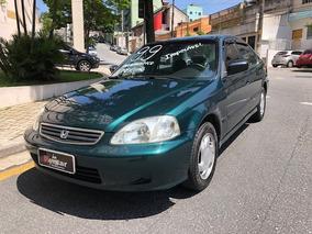 Honda Civic Lx 1.6 1999 Raridade Super Conservado