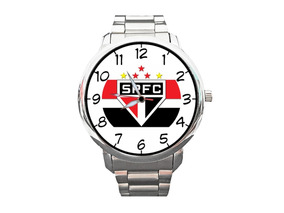 Relógio São Paulo Spfc Tricolor Futebol Bola Top +vendido
