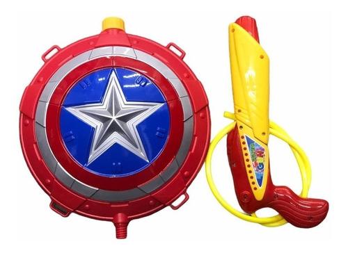Mochila Pistola De Agua Mascara Spiderman Escudo Cap America