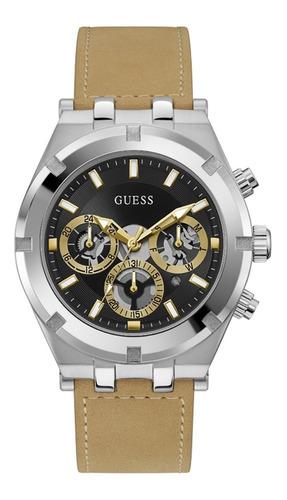 Reloj Para Hombre Guess Continental Color Beige Gw0262g1