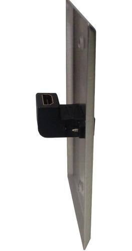 Imagen 1 de 5 de Placa Tapa Metal Faceplate Hdmi 90° Hembra 4k+3d (10011-2)