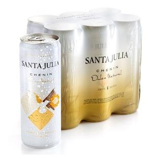 Pack X6 Vino Lata Santa Julia Chenin Dulce Zuccardi 355ml