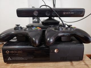 Xbox 360 4gb Kinnect + 2 Joystick + Pes 2016 Poco Uso