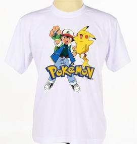 Camisa Infantil Jogo Série Desenho Anime Pokemon Camiseta