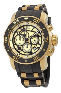Reloj Invicta Pro Diver 25709 Negro Fondo Verde Caja Dorada