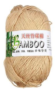 Hilo Suave De Algodón De Bambú Natural Para Tejer, Color C