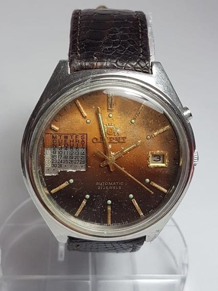 Relogio De Pulso Orient Automatic Calendario Perpetuo 21 Jwl