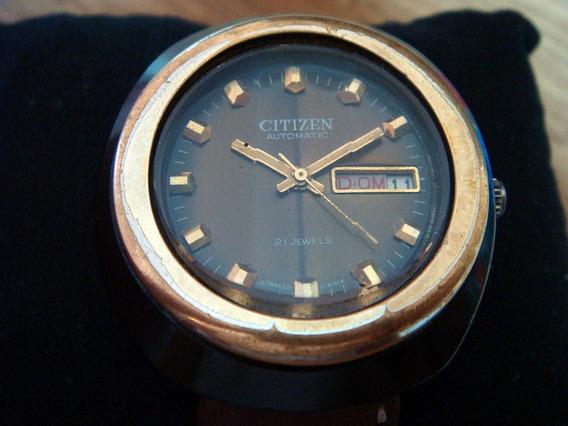 Reloj De Colección Citizen. Caja Aluminio Y Cristal Roca