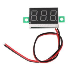 Kit 10 Peças Voltímetro Digital Automotivo Eletrônica