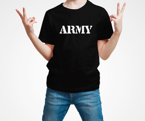 Playera Army Ejercito Militar Niño 1 Pza Envio Gratis