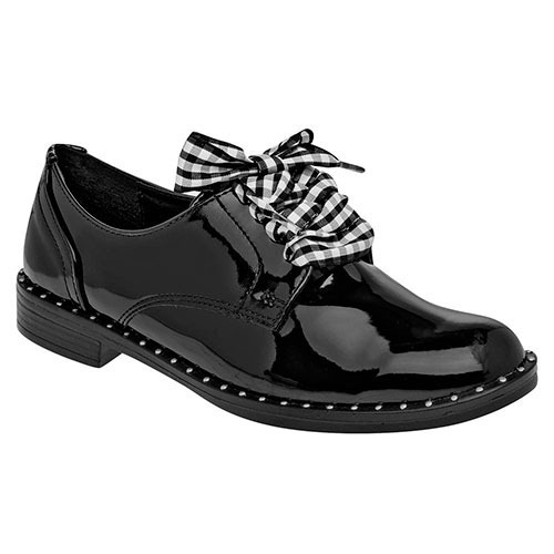 Zapato Been Class Casual Mujer Negro Charol 83877