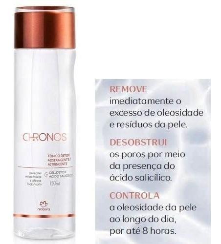 Tônico Detox Chronos Natura 150ml Hidratante Ou Adstringente