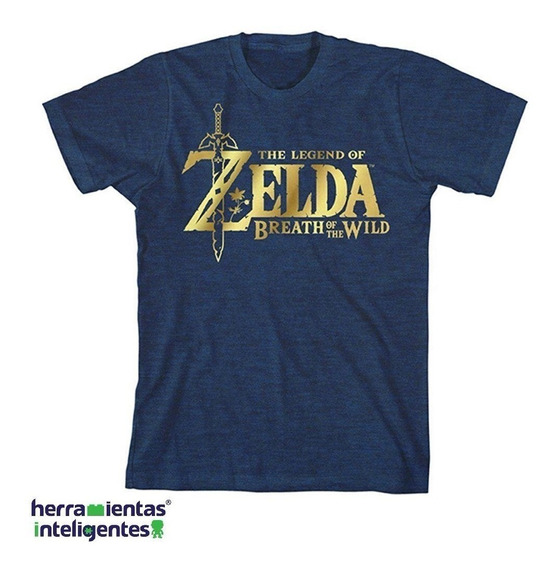 The Legend Of Zelda Playera Azul Y Oro Infantil Bioworld