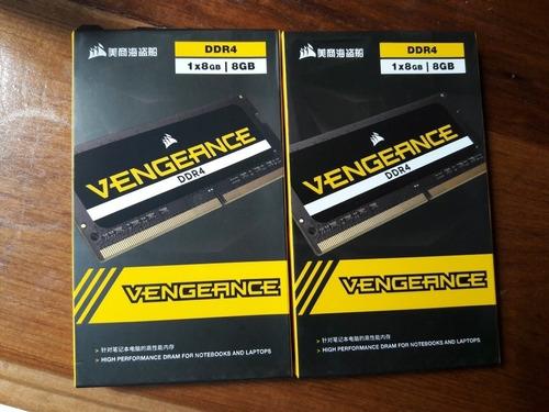 Imagem 1 de 1 de Memoria Ram Notebook Corsair Kit 16gb (2x 8gb) Ddr4 2666mhz