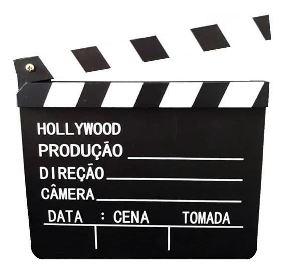 Claquete De Cinema P/ Hollywood Decoracao 28cm X 30cm Grande