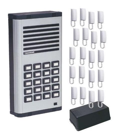 Kit 20 Pontos Thevear Porteiro Coletivo+fonte+20 Interfones