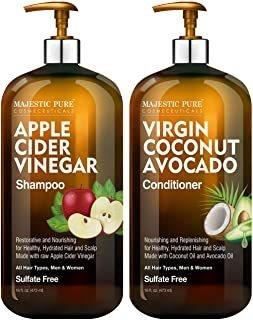 Majestic Pure Apple Cider Vinegar Shampoo And Avocado Coconu