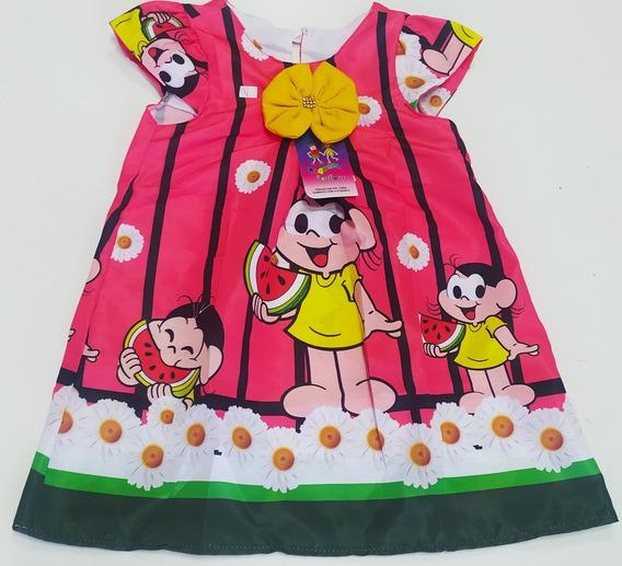 Vestido Infantil Tematico Trapézio Básico Magali Vermelho.