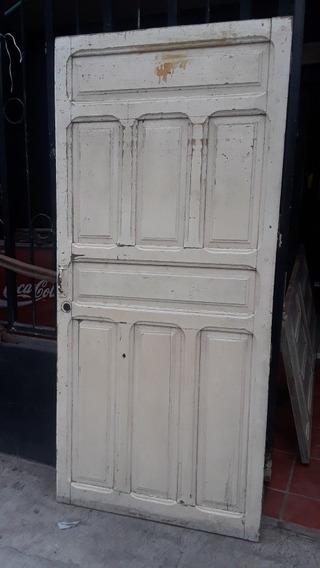 Puerta Antigua De Madera Sólida. 93 X 204