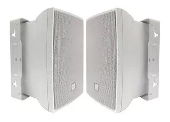 Caixa Acústica Jbl C 321b Branca 30w Suporte Regulavel -par