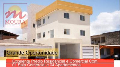 Excelente Prédio Residencial E Comercial Com Uma Sala Comercial E 04 Apartamentos. - Pr0017