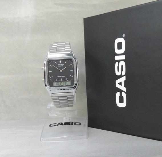 Relógio Casio Vintage Unissex - Mod Aq-230a-1dmq Nf/garantia
