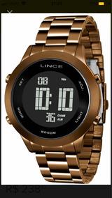 Relógio Lince Digital Feminino Marron Chocolate Sdph084l Px