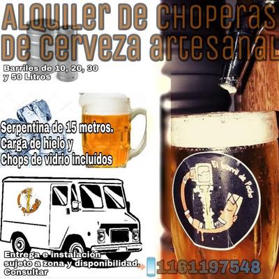 Alquiler De Chopera De Cerveza Artesanal Para Fiestas