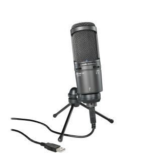 Microfone Condensador Cardióide Audio Technica At2020usb
