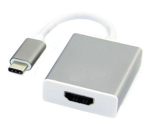 Imagen 1 de 7 de Cable Adaptador Usb Tipo C A Hdmi 4k +delivery