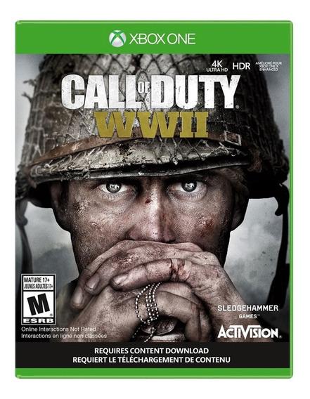 Jogo Call Of Duty Ww2 Cod Xbox One Disco Fisico Cd Original