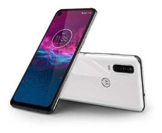 Moto One Action Motorola 6,24 128gb 4gb Cam Tripla Branco