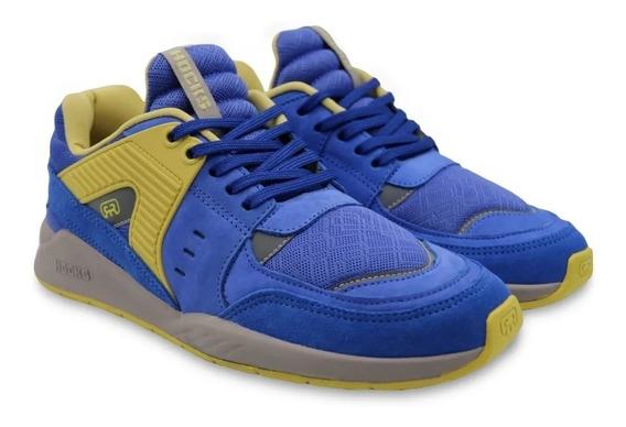 Tênis Hocks Skate Pulsus Sneaker Azul Amarelo Original