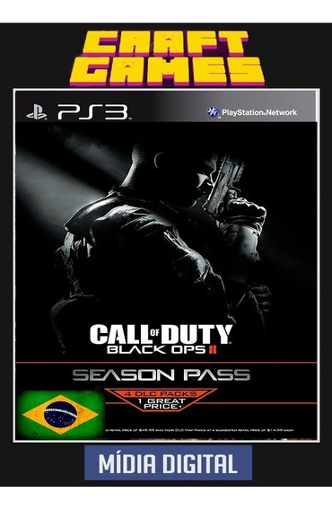 Call Of Duty: Black Ops Ii And Season Pass Digital Ps3 Pt-br