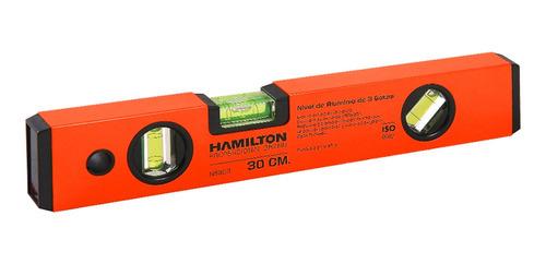 Imagen 1 de 2 de Nivel De Aluminio - 300 Mm. Hamilton Ns300