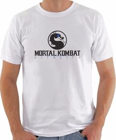 Camiseta Masculina Gamer Retrô Mortal Kombat Fatality Barato