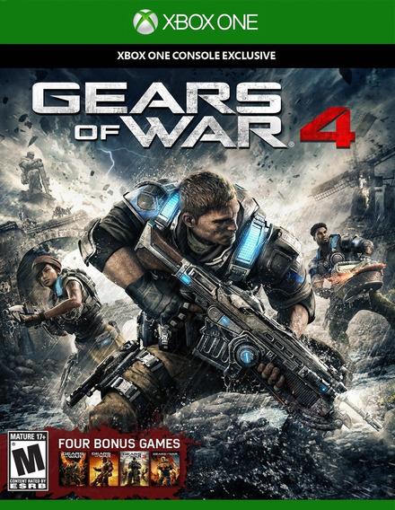 Gears Of War 4 Para Xbox One 100% Português Mídia Física